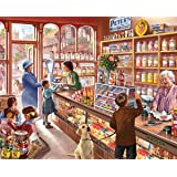 White Mountain Puzzles Cozy Candy Shop - 300 Piece Jigsaw Puzzle