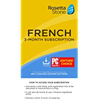 Rosetta Stone Learn French for 3 Months on iOS, Android, PC, and Mac - Mobile & Online Access (Email Delivery in 2 Hours - No CD) (Activation Key Card)