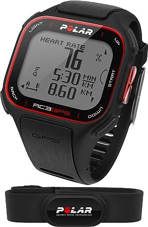 Polar RC3 GPS HR - Reloj con pulsómetro y GPS integrado, compatible con sensor de zancada, de cadencia y de velocidad para running y ciclismo (negro): Amazon.es: Deportes y aire libre