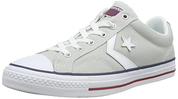 Converse Star Player Low Top Unisex Erwachsene Grau Weiß
