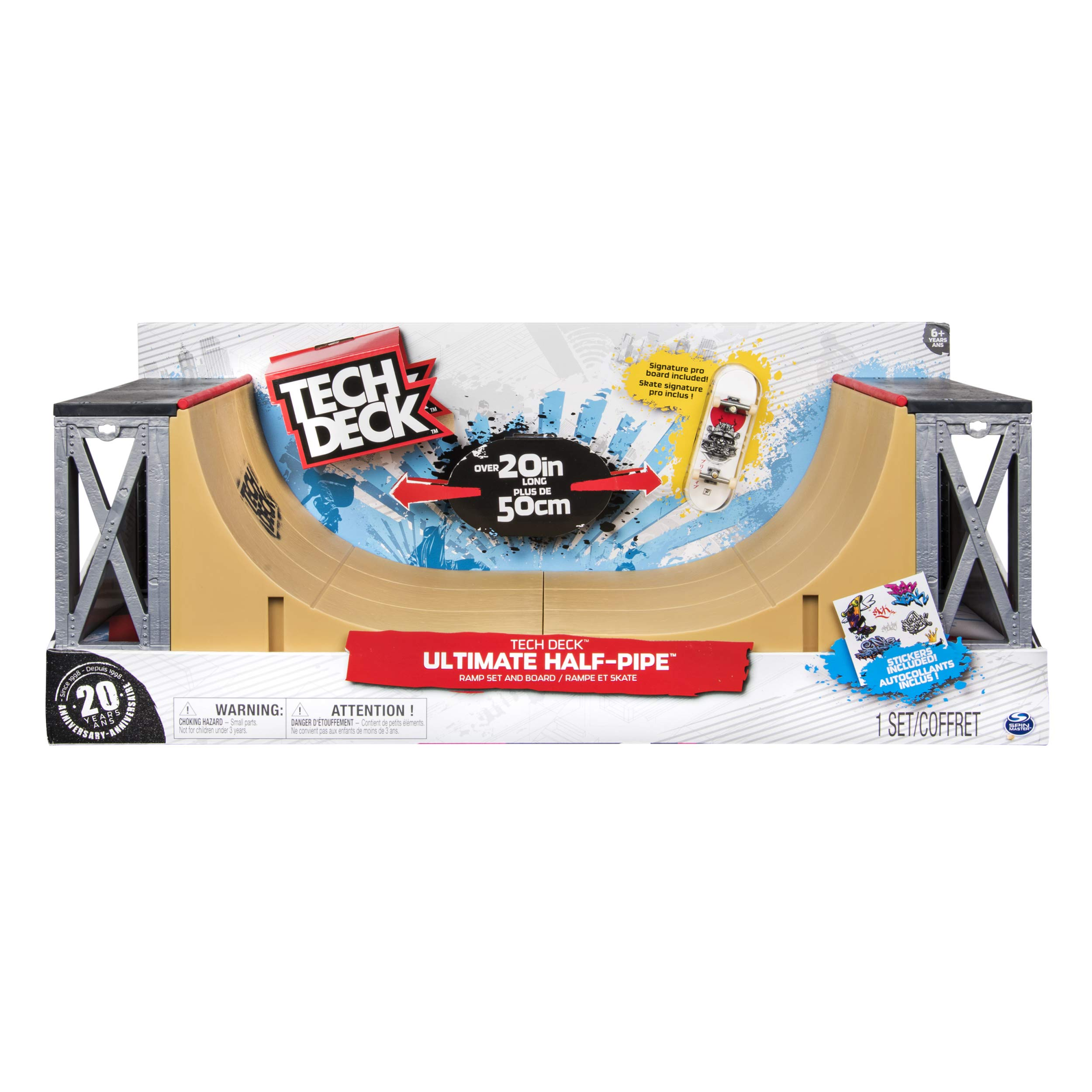 Tech Deck - Ultimate Half-Pipe Ramp and Exclusive Primitive Pro Model Finger Board, for Ages 6 and Up by TECH DECK