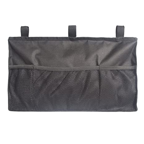 MDSTOP - Organizador de paseo, bolsa de almacenamiento para colgar, accesorio impermeable, universal para andar, patinete o andador, color negro