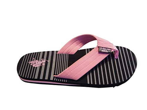 40c6142506a Amazon.com | U.S. Polo Assn. Womens Pink Stripe Thong Flip Flop ...