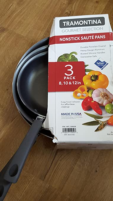 Amazon.com: Tramontina Gourmet Selection 3-pack Saute Pans - Red ...