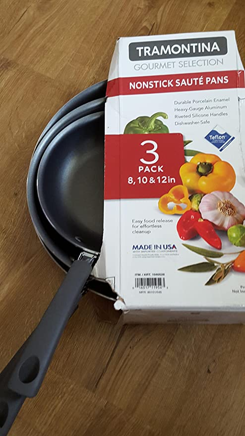 Amazon.com: Tramontina Gourmet Selection 3-pack Saute Pans ...