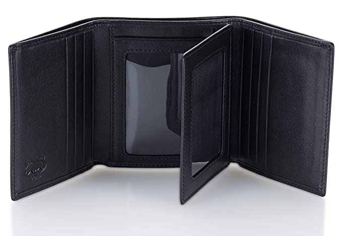 29cdcdf936fd Stealth Mode Leather Trifold RFID Wallet For Men With Flip Out ID Holder