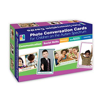 Key Education Photo Conversation Cards for Children with Autism and Asperger's: Flora M.S., Sherrill B.: Toys & Games