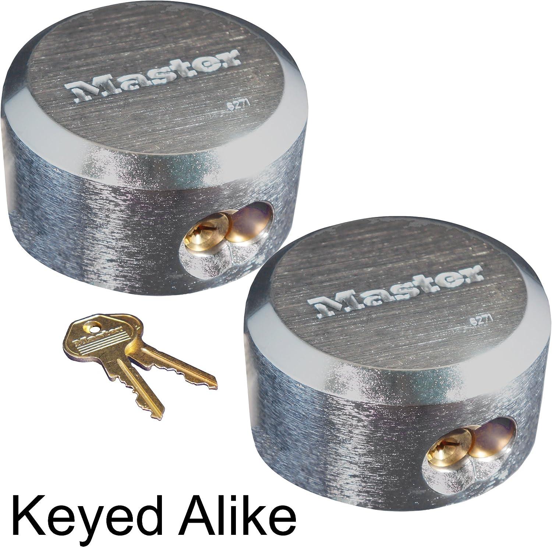 Shackle Hidden Lock Master Locks Puck Lot Round Padlock Alike Keyed Hasp