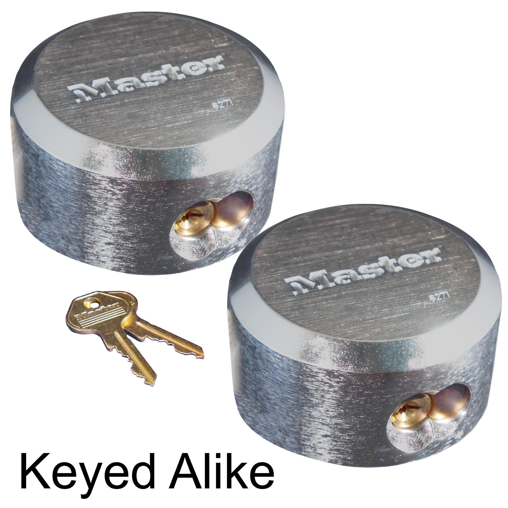 Master Lock - Hidden Shackle Locks Keyed Alike New #6271KA-2