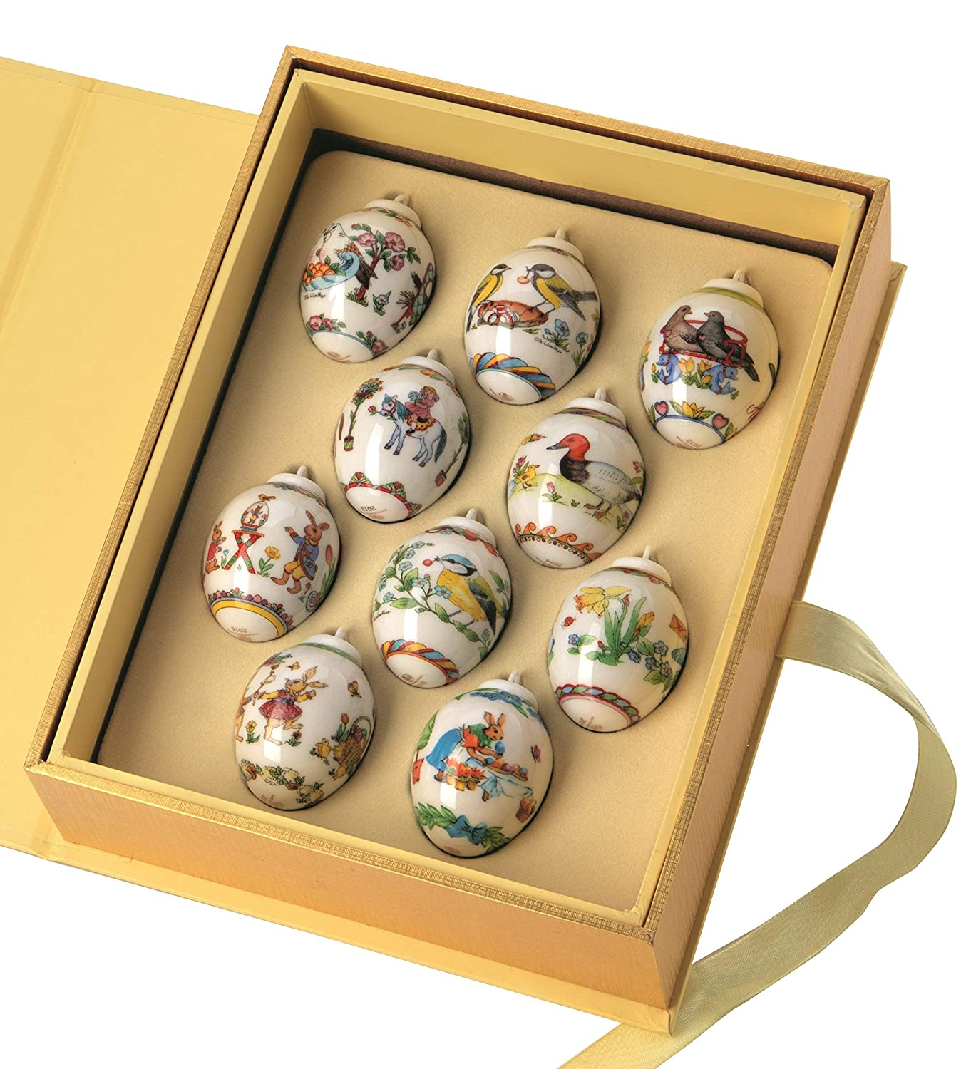 26a6f4657f4a Amazon.com  Hutschenreuther Collector s Themes 2019 Set of 10 Mini Eggs  Special Edition - Limited Edition 2000 Pieces World Edition  Kitchen    Dining