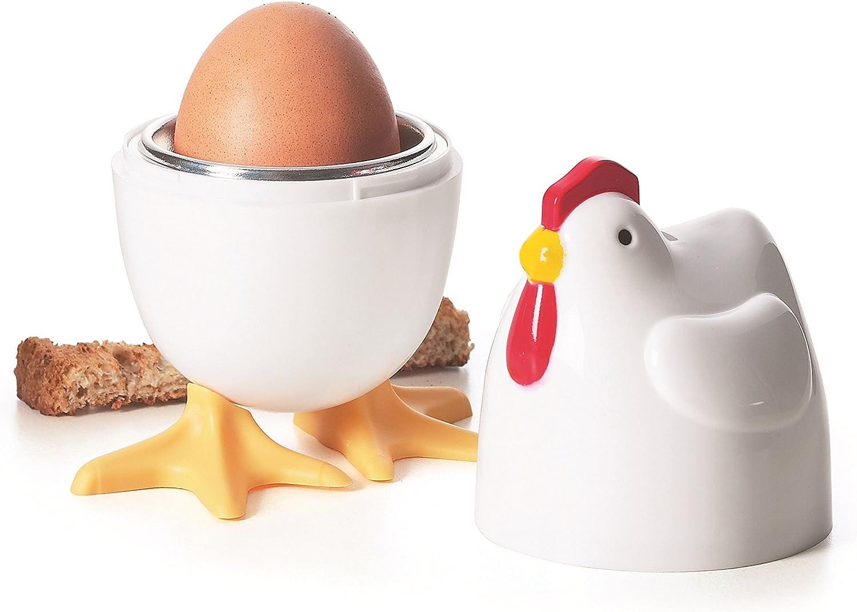 Excelsa Cocò - Huevo para microondas, Color Blanco, 1 Huevo ...