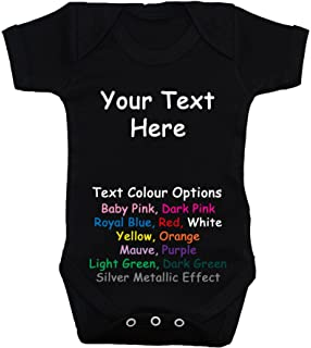 bf39f1623a03 Acce Products Bespoke Personalised Design Your Own Wording Baby  Bodysuit/Romper/Vest/T…