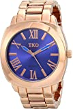 TKO ORLOGI Women's Big Navy Deep Blue  Face Rose Gold Boyfriend Oversized Watch