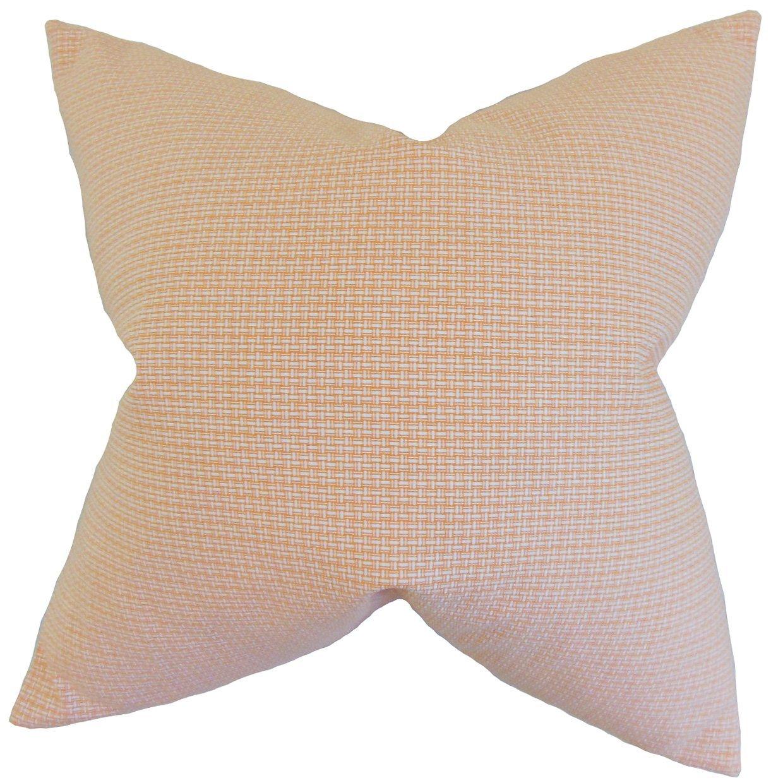 The Pillow Collection Hye Plaid Bedding Sham Orange King/20' x 36'