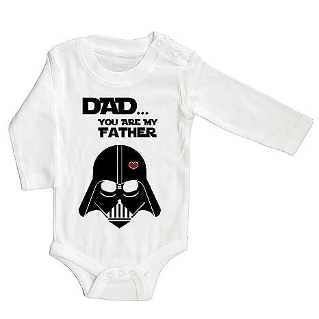 Pelele con texto en inglés «Dad... You are my father» de