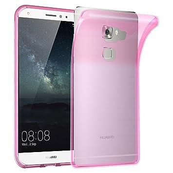 Cadorabo Funda para Huawei Mate S en Transparente Rosa – Cubierta Proteccíon de Silicona TPU Delgada e Flexible con Antichoque – Gel Case Cover ...
