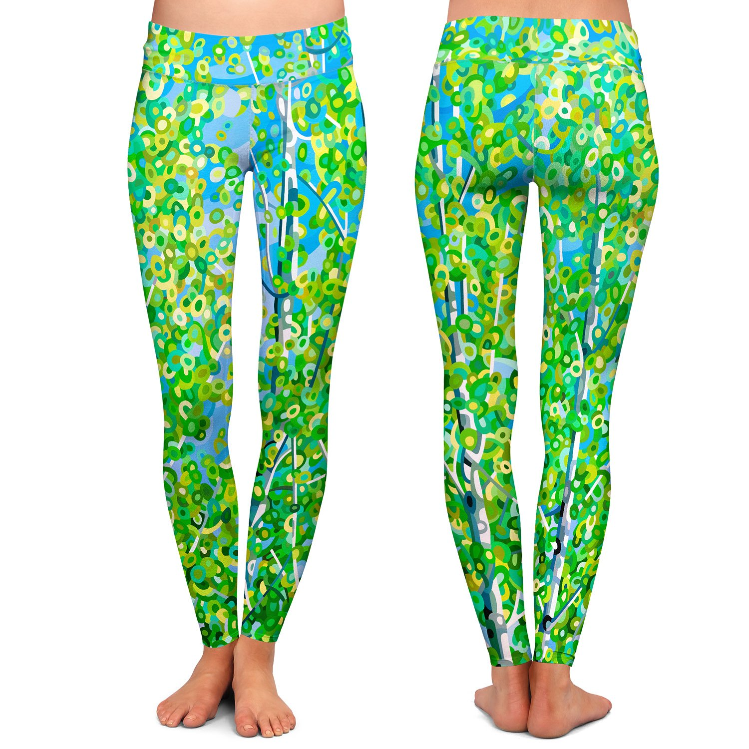 Athletic Yoga Leggings from DiaNoche Designs by Mandy Budan Summer Garden