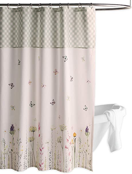 Amazon Com Maison D Hermine Botanical Fresh 100 Cotton Shower Curtain With 12 Button Holes 72 X72 Furniture Decor
