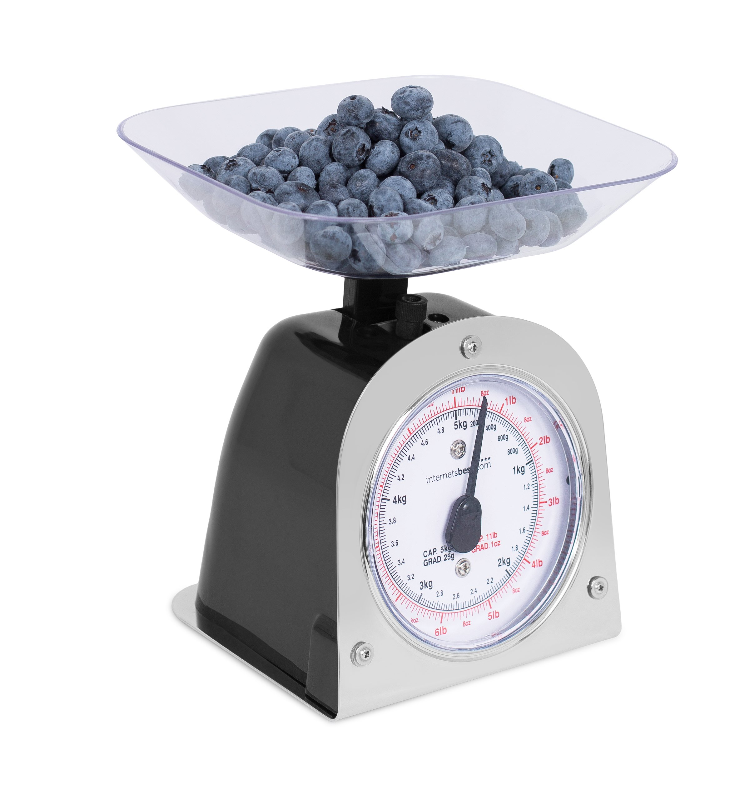 Internet's Best Mechanical Kitchen Food Weight Scale with Bowl | Accurate Measurements | Weighs Up 11 Lbs | 1KG - 5KG