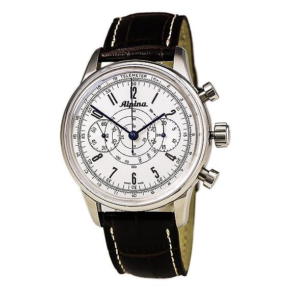 Alpina Geneve Alpina 130 Heritage Pilot Chronograph AL-860S4H6 Reloj para hombres Alpina Rotor: Amazon.es: Relojes