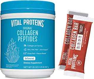 product image for Vital Proteins Collagen Peptides 20oz & 12 Peanut Butter Chocolate Collagen Bars