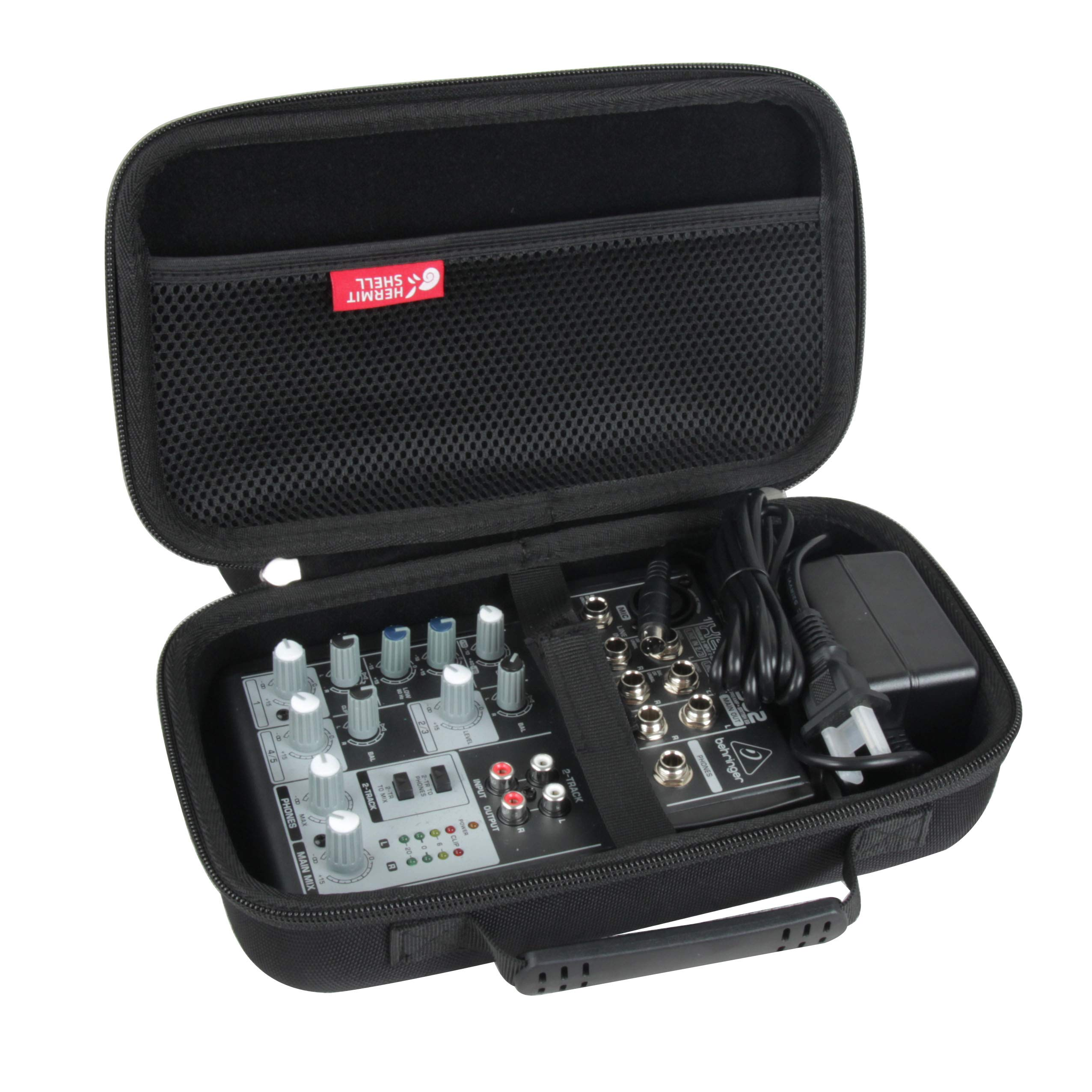Hermitshell Hard Travel Case for Behringer Xenyx 502 Premium 5-Input 2-Bus Mixer