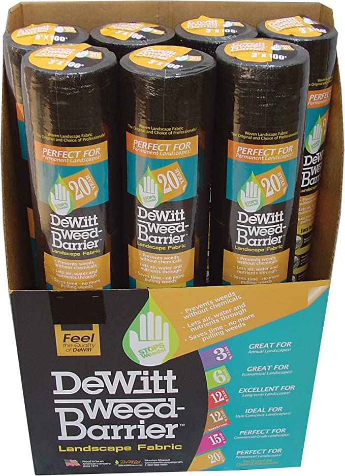 Dewitt Brown 3-Foot by 50-Foot 3oz Weed Barrier Pro Landscape Fabric PBN350
