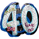 Amscan 116050-01 26 x 21-Inch Oh No It's My 40th Birthday Foil Super Shape Balloons
