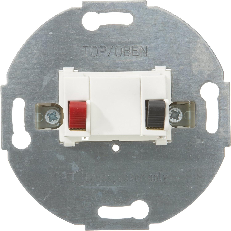 1fach Merten Lautsprecher-Anschluss-Einsatz polarweiß 466919