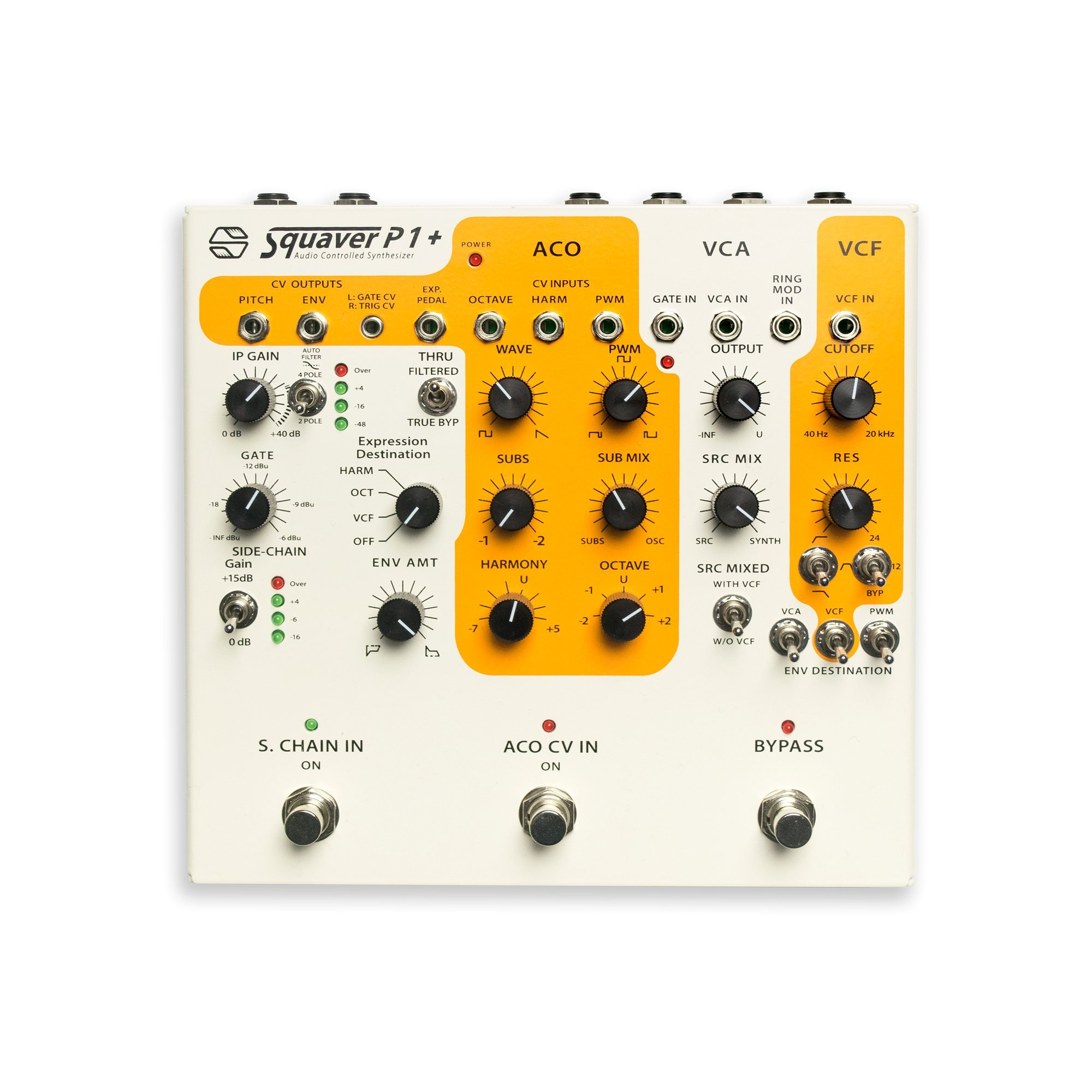 Squaver P1+ : Semi-Modulor Analog Audio-Controlled Synthesizer Pedal by Sonicsmith
