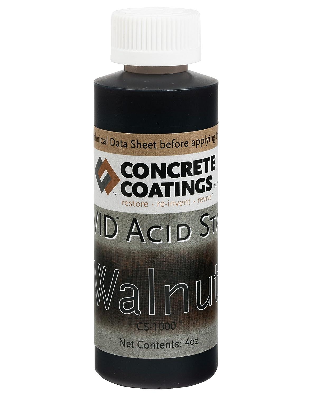 VIVID Acid Stain - 4oz - Walnut (Rich Black W/Brown Undertone) Concrete Coatings CS-1000-4oz