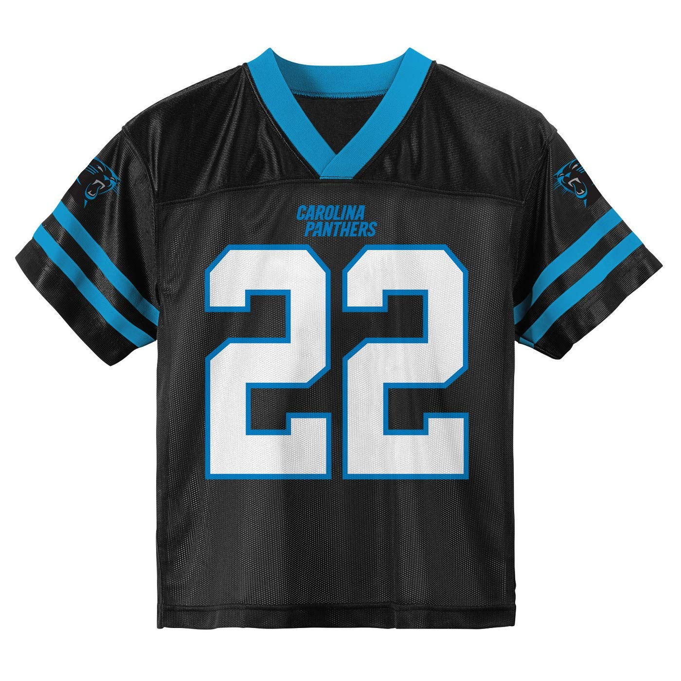 d85599c51 Amazon.com   Outerstuff Christian McCaffrey Carolina Panthers  22 Black  Youth Home Player Jersey   Sports   Outdoors