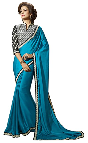 Swara Moda india de Bollywood de mujeres de origen Sari Con la blusa unstitched