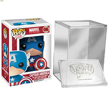 Funko Pop: Marvel Comics - Captain America Vinyl Figure + FUNKO PROTECTIVE CASE: Amazon.es: Juguetes y juegos
