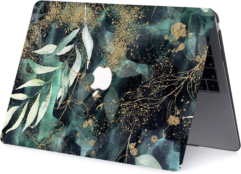 AJYX MacBook Air 13 Zoll H/ülle 2017 2016 2015 2014 2013 2012 2011 2010 Release A1369 A1466 Kunststoffschutzh/ülle Mit Mustern Laptop Hardcover F/ür Alte Version MacBook Air 13 Gr/ün Gold