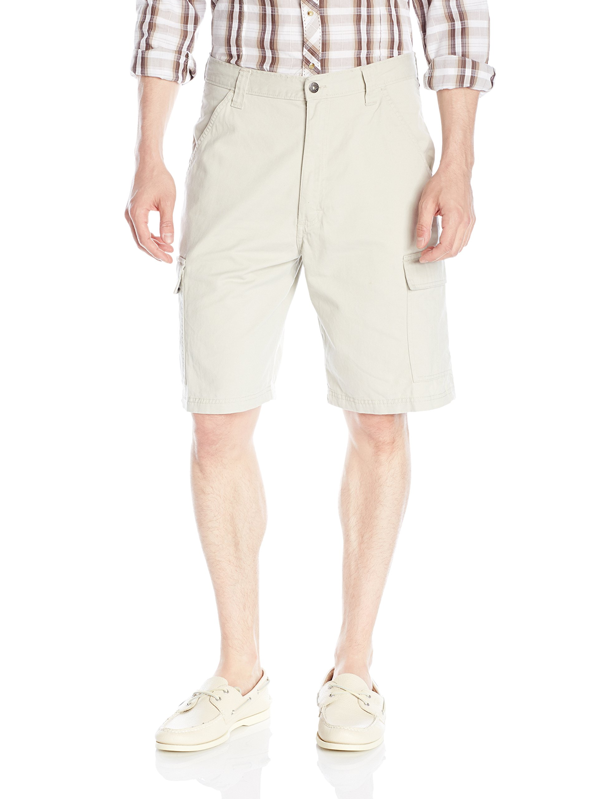 Wrangler Men's Authentics Classic Twill Cargo Short, Dark Putty, 36