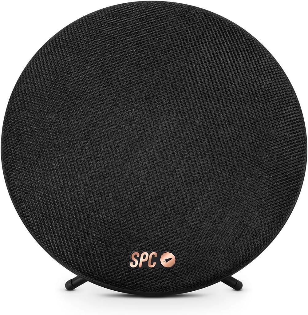 TALLA 6 watios. SPC Sphere - Altavoces portátiles (6 W, Alámbrico, 3.5 mm, Bluetooth 2.1+EDR, 10 m), Negro