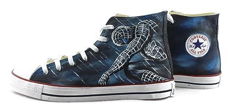 hand painted shoes Zapatillas pintadas a mano Chuck Taylor Converse Negro Original Diseño Spiderman Zapatillas Hombre