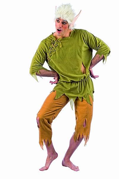 Elbenwald Disfraz elfo Hombres 3 piezas Camisa Pantalón peluca con orejas D elfo: Amazon.es: Juguetes y juegos