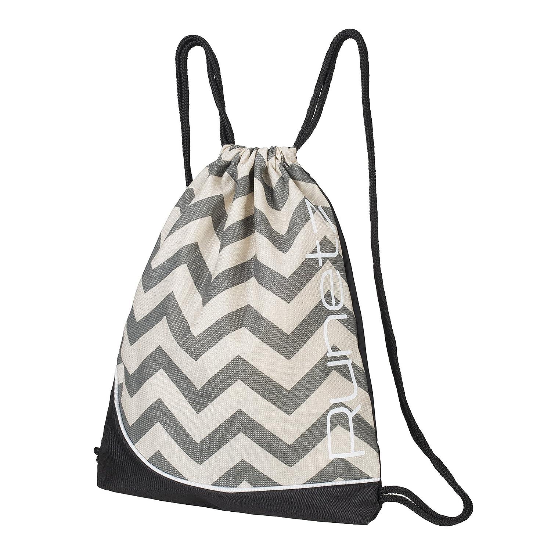 4e334458f846 Runetz - Chevron Gray Gym Sack Bag Drawstring Backpack Sport Bag for Men    Women Sackpack - Chevron Grey  Amazon.in  Bags