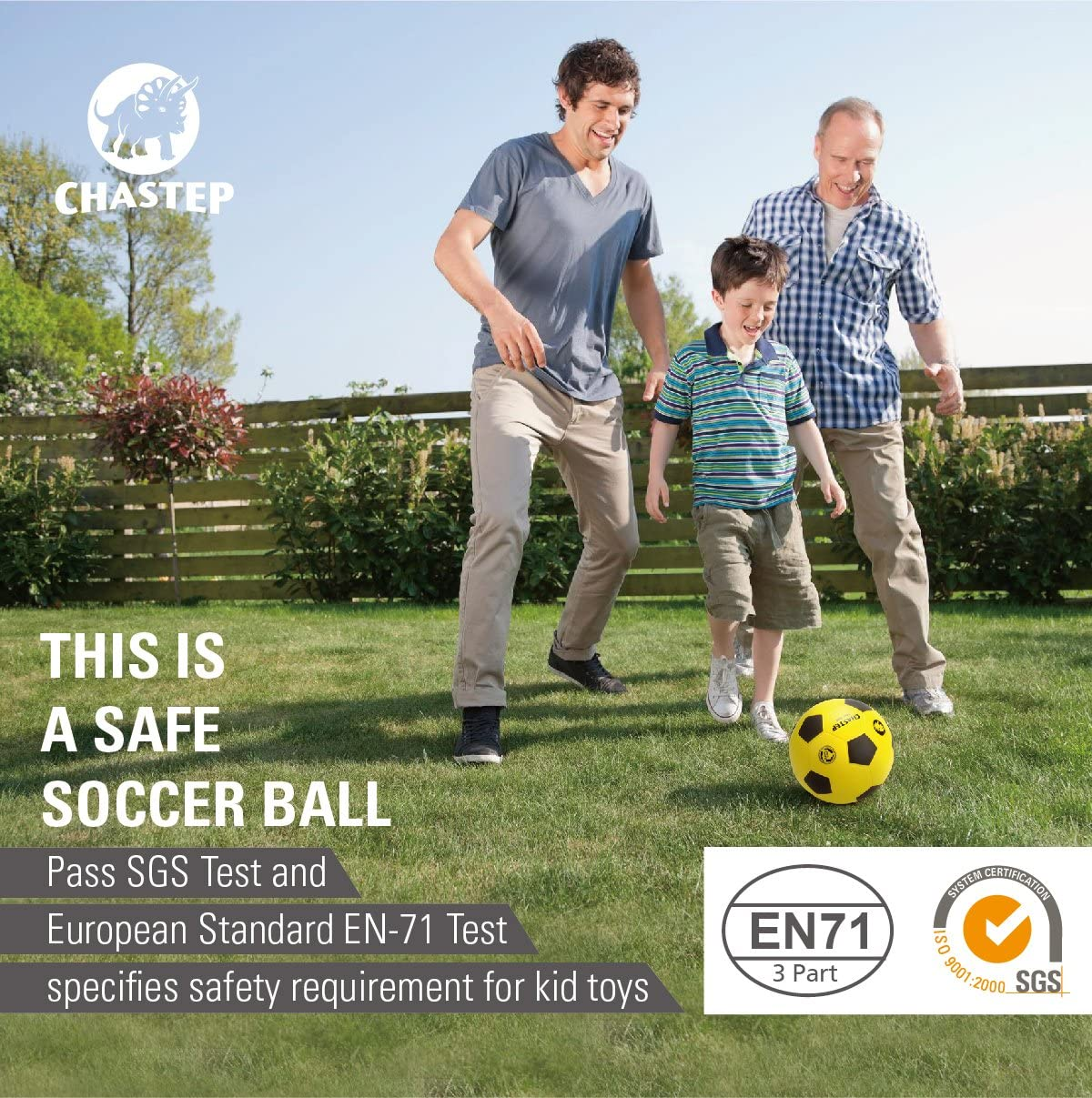 Chastep 8 Foam Soccer Ball Indoor//Outdoor Perfect for Kids or Beginner Play and Excercise Soft Kick /& Safe,Yellow//Black