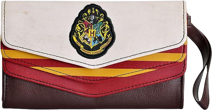 Harry Potter Hogwarts Matelass/é Noir Portefeuille