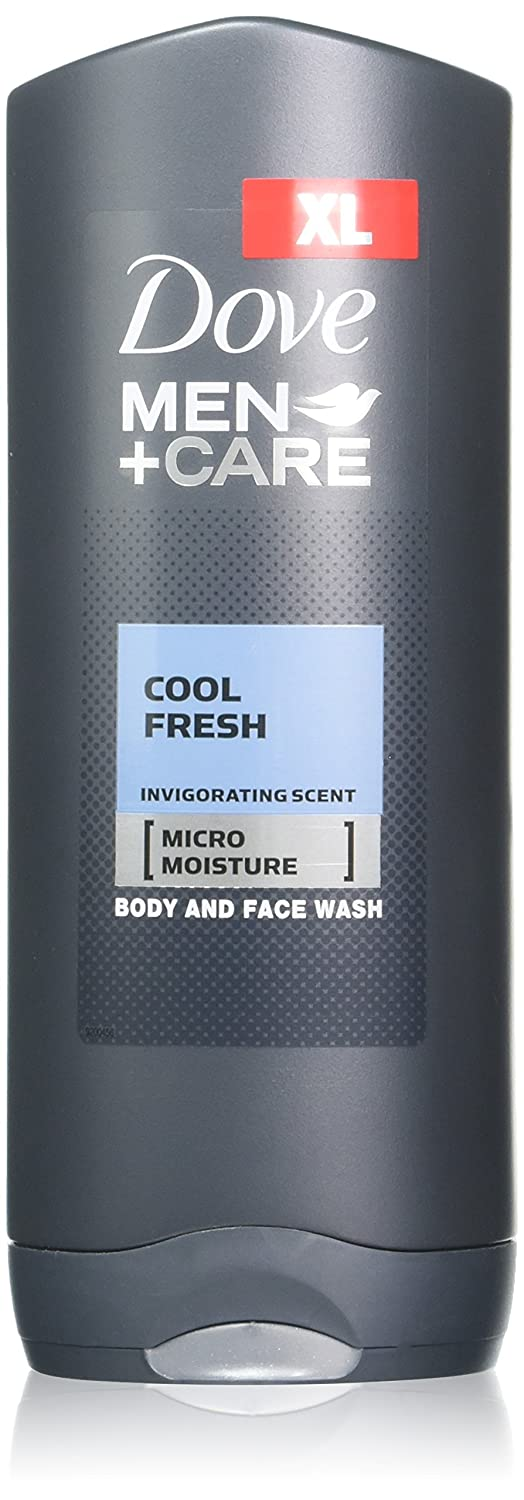 Dove Men + Care Body and Face Wash, Cool Fresh, 13.5 Ounce (Pack of 2)