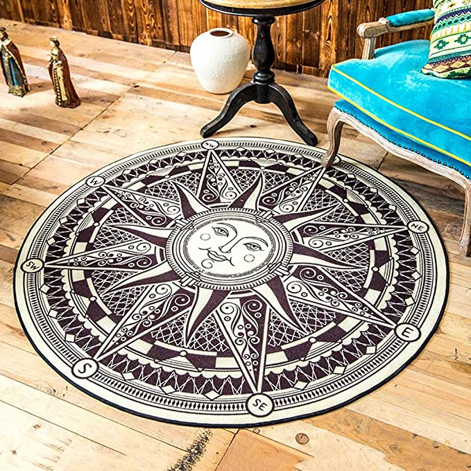 . Amazon com  OZYN Brand Rugs Round Carpet Ultra Thin European Style