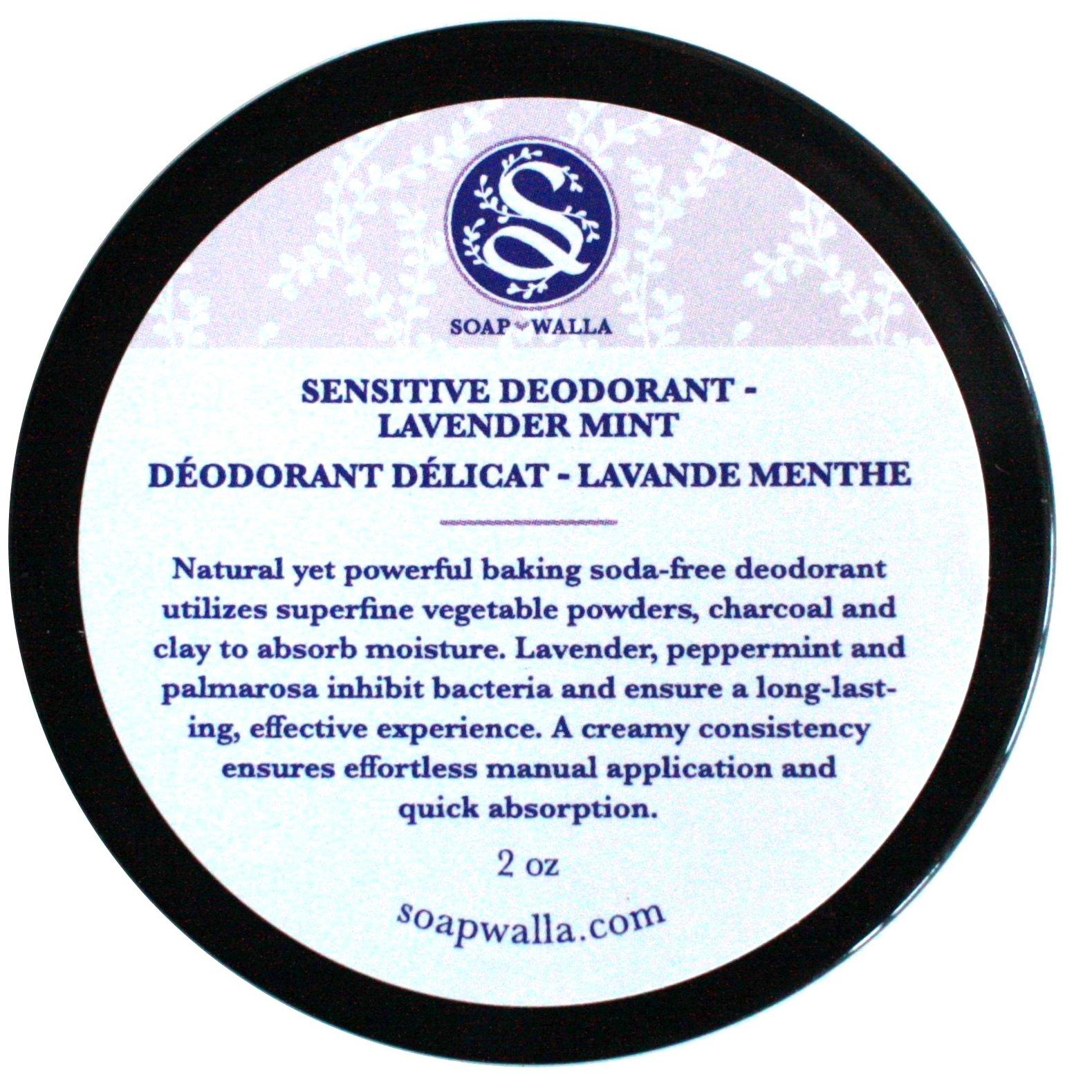 Soapwalla - Organic/Vegan Sensitive Skin Deodorant Cream (Lavender Mint, Baking Soda Free)