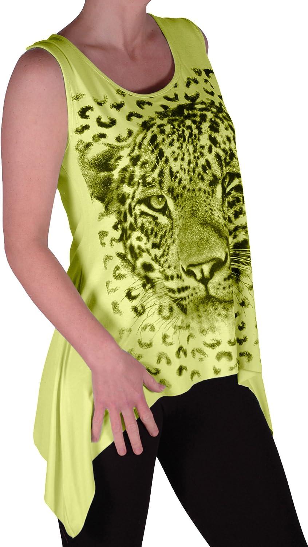 Tigre Grandes Tailles Femme EyeCatch D/ébardeur drap/é stretch