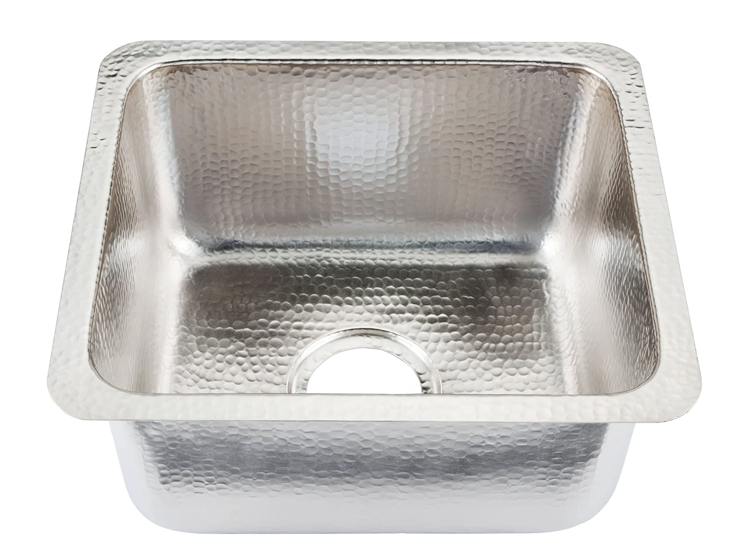 Lovely Sinkology Rembrant Undermount Handcrafted Nickel Sink 17 Inch Bar Prep Sink  In Nickel   Bar Sink Faucets   Amazon.com