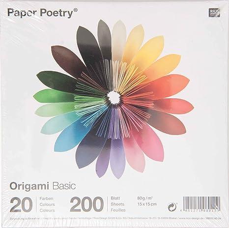 Rico Design - Papel para hacer papiroflexia, multicolor