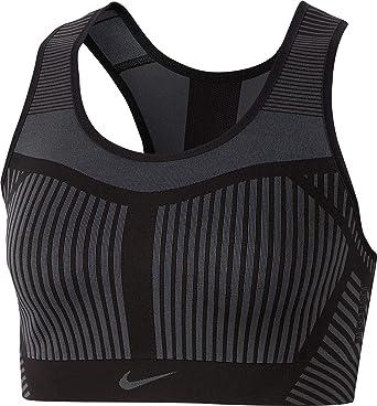 d3b81086683fc NIKE Women's FE/NOM Flyknit Sports Bra, (Black, X-Small) at Amazon ...