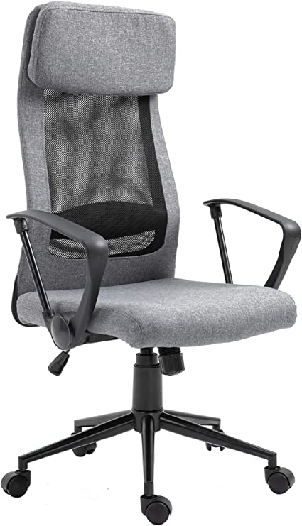 Amazon Com Vinsetto Breathable Home Office Chair Executive Height Adjustable Rolling Swivel Chair With Tilt Function Office Products
